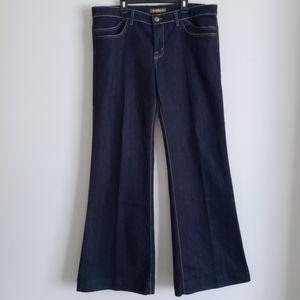 DAVID KAHN Dark-Washed Bell Bottom Jeans